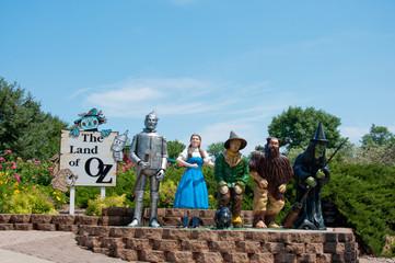 Aberdeen, South Dakota, USA - 7/2018: Storybook Land, Wizard of Oz display