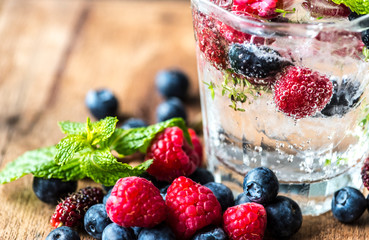 Mixed berry infused water recipe