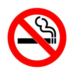 no smoking sign vector isolated on white