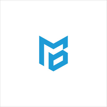 Initial letter mb or bm logo vector templates