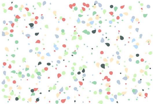 Colorful polka dots vector. with shapes colorful background. Random shapes of small and large scale lovely sweet. suitable use as templates wedding, fabric, wallpapers.