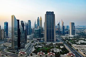 高層ビルから眺めるドバイ市街、アラブ首長国連邦 Fotomurales