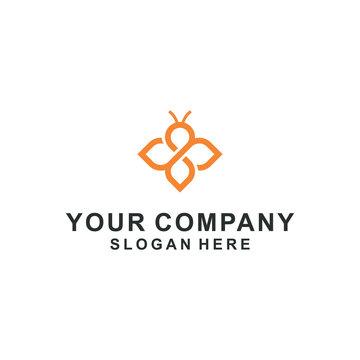 bee logo vector company