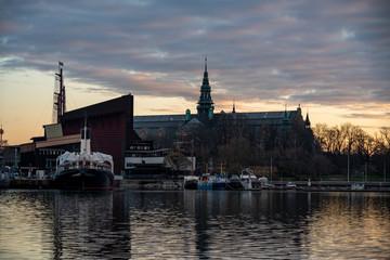 Foto auf AluDibond Schiff Morning over Djurgården, Stockholm
