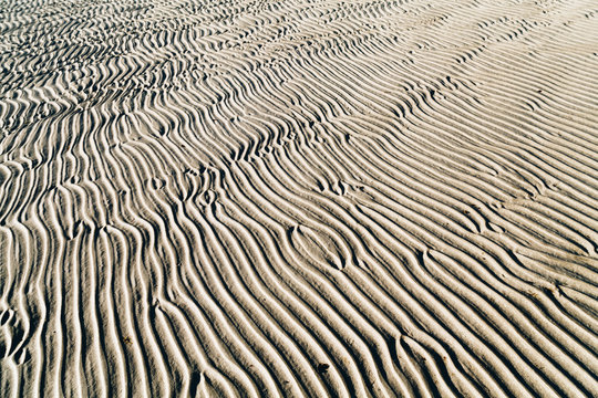 Full Frame Shot Of Wave Pattern On Sand At Desert