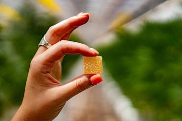Fototapeta edibles marijuana gummy obraz