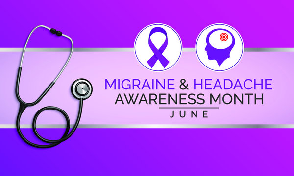 Vector illustration on the theme of National Migraine and Headache awareness month observed each year during June.