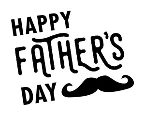 Happy Father's Day vector card isolated on white background
