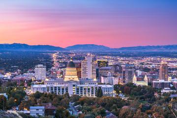 Fototapete - Salt Lake City, Utah, USA