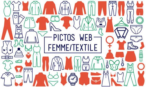 Textile Femme - Picto / web