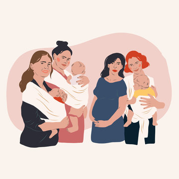 Group of Women with babies
