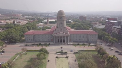 Wall Mural - Aerial view of Tshwane City Hall in the city center of Pretoria, the capital city of South Africa
