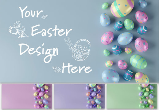 Mockup of a Easter Composition
