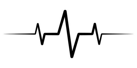 heart rate pulse, icon medicine logo, vector heartbeat heart rate icon, audio sound radio wave amplitude spikes
