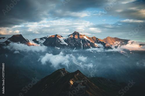 壁紙(ウォールミューラル) Dramatic view of high ridge. Location Grossglockner high alpine road, Austria, Europe.