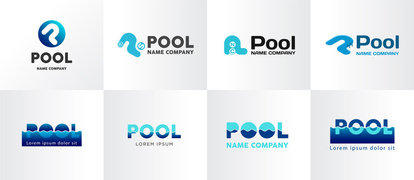 Cool simpl logo design for swiming pool. Suitable for for pool, aqua park or other.