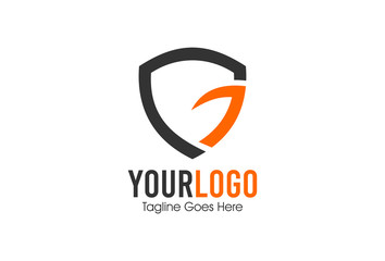 letter g shield protection logo