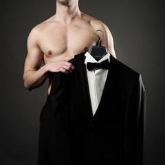 Foto auf Acrylglas womenART Photo of stylish man in elegant black suit