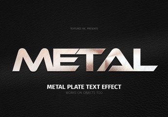 Metal Plate Text Effect Mockup