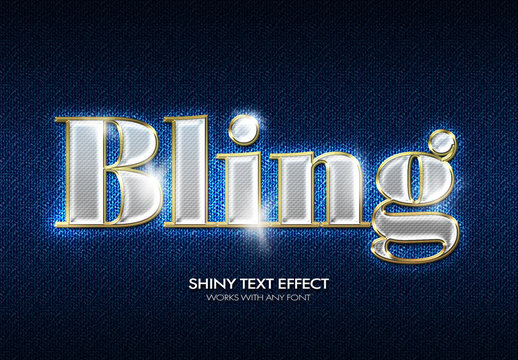Bling Text Effect Mockup