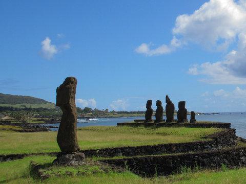 Tahai Maoi Easter Island