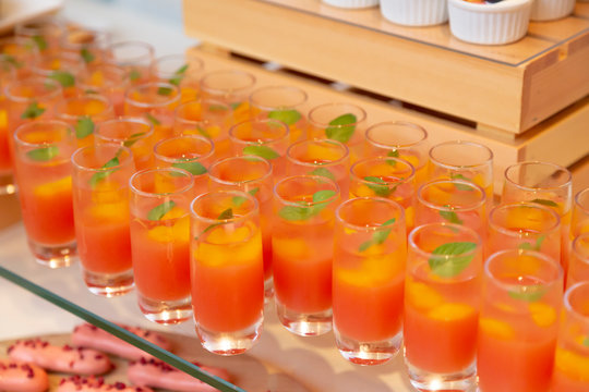 Lots of orange jelly and mint