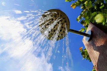 Fototapeta Low Angle View Of Outdoors Shower
