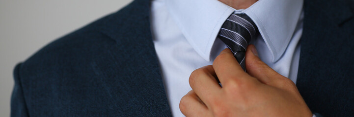 Tie on shirt suit business style man fashion shop selling business clothing attributes Fotomurales