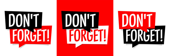 Don't forget ! Wall mural