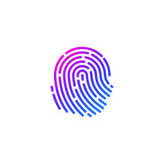 finger print icon in vector file