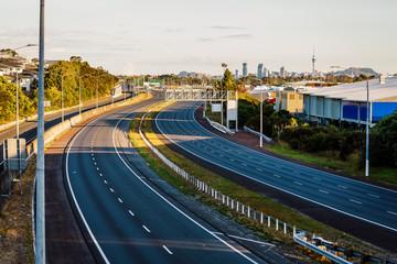 coronavirus covid 19 deserted Auckland northern motorway New Zealand