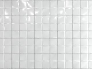 Obraz White squares ceramic tile on the wall. 3d render. - fototapety do salonu