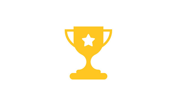 Trophy icon vector ,Trophy logo illustation