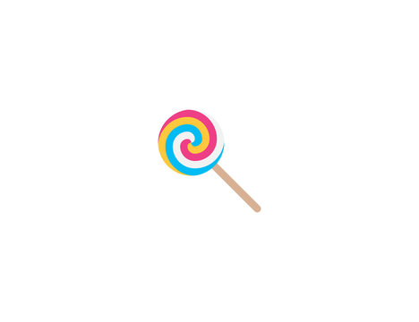 Lollipop vector flat icon. Isolated lolly candy emoji illustration