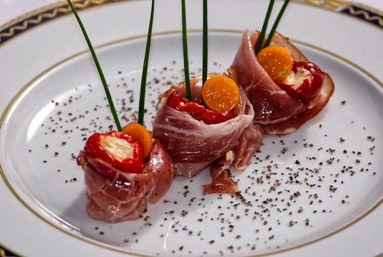 rolady z szynki parneńskiej