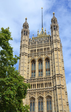 Palace of Westminster in London, Great Britain