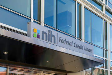 Washington, D.C., USA- March 1, 2020: NIH Federal Credit Union Washington, D.C., USA. The NIH Federal Credit Union (NIHFCU) is the nation's largest credit union serving the biomedical industry.