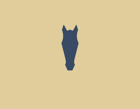 Abstract creative geometric logo horse head