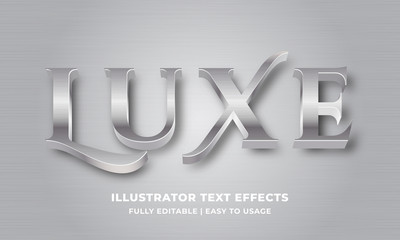 Luxury Silver Metallic 3d Text Effect