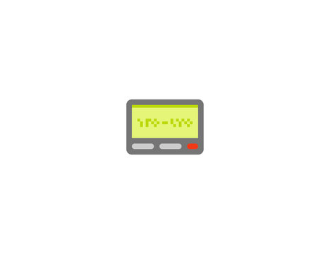 Pager vector flat icon. Isolated beeper emoji illustration