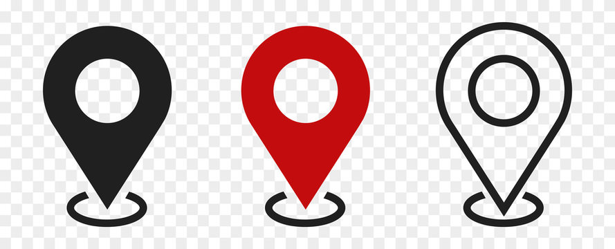 set of location icons.modern map markers. Vector illustration on a white background