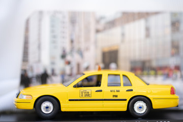 Yellow cabs NYC. The taxicabs of New York City
