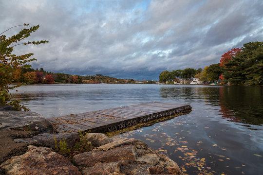 A Fall Scene in Worcester Massachusetts
