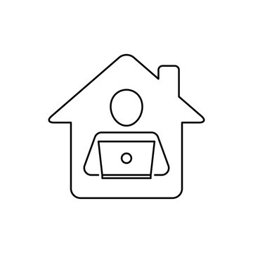 Remote work, work from home icon