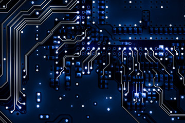 Mainboard on abstract background illustration