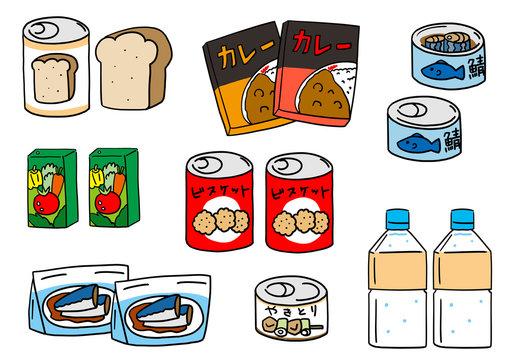 食パン缶詰やレトルトカレーなど保存食非常食セット