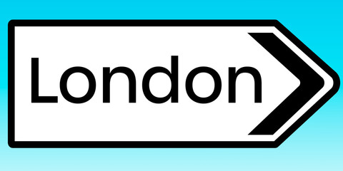 Road sign to London