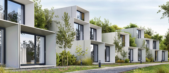 Modular houses of modern architecture