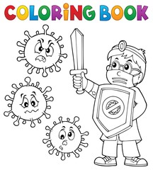 Poster For Kids Coloring book doctor fighting virus 1