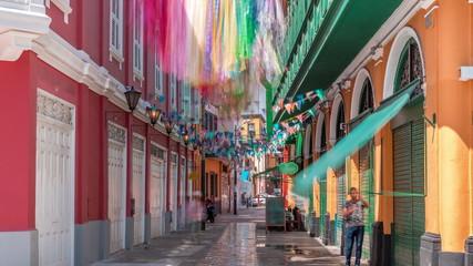 Monumental Callao is one of the new fashion areas near Lima timelapse. Lima Peru. Fototapete